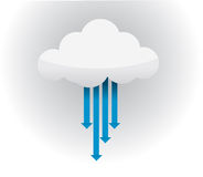 Cloud arrow, network communication illustration Royalty Free Stock Image