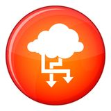 Cloud and arrows icon, flat style Stock Photo