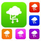 Cloud and arrows set collection Royalty Free Stock Image
