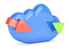 Cloud and arrows Royalty Free Stock Photos