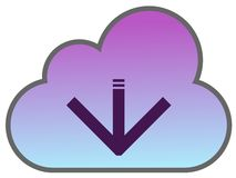 Cloud. As a download icon Stock Images