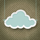 Cloud as retro sign Royalty Free Stock Photos