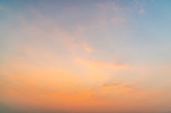 Cloud at atmosphere during sunset Royalty Free Stock Image
