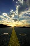 cloud autostradą wiejską Fotografia Royalty Free