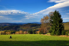 Cloud, Autumn, Forest, Olesnice, Panorama, Orlické Mountains, Czech Republic Royalty Free Stock Photography