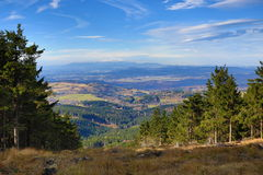 Cloud, Autumn, Forest, Panorama, Orlické Mountains, Czech Republic Royalty Free Stock Photo