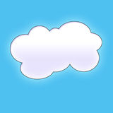 Cloud background. Cloud on blue sky. Background or texture Royalty Free Illustration