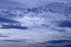 Cloud background. In the afternoon Stock Images