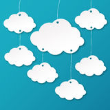 Cloud Background. Clouds design over sky background vector illustration Royalty Free Stock Images