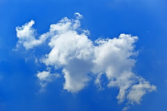 Cloud background image. The beautiful white clouds and blue sky Stock Image