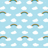 Cloud Background. Pattern clouds and star on dark blue background with cloud computing concept Stock Photos