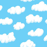 Cloud Background (seamless on all 4 sides)Cloud Background (seamless on all 4 sides). Cartoon-style cloudscape background. The pattern is seamless, which means Royalty Free Stock Image