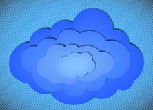 Cloud background on a striped background Stock Photography