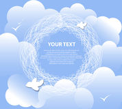 Cloud background for text. excellent weather. Cloud background for text vector. excellent weather Stock Photo