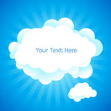 Cloud background with text space. Cloud background with text space in vector Royalty Free Stock Photos