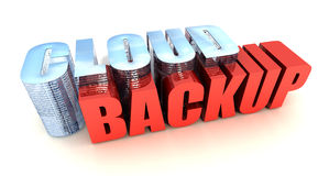 Cloud Backup. Online Data Backup on White Stock Photography