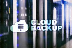 Cloud backup. Server data loss prevention. Cyber security.  Stock Images