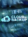 Cloud backup. Server data loss prevention. Cyber security royalty free stock photos