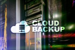 Cloud backup. Server data loss prevention. Cyber security. stock image