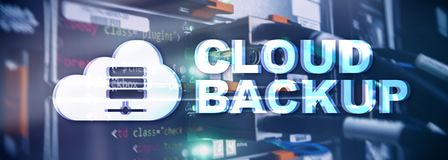 Cloud backup. Server data loss prevention. Cyber security. stock photos