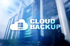 Cloud backup. Server data loss prevention. Cyber security. royalty free stock images
