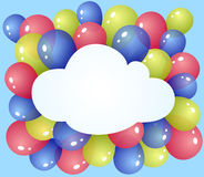 Cloud with balloons Stock Photos