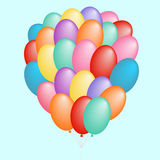 A cloud of balloons gift Stock Image