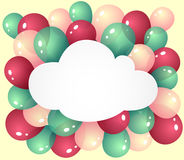 Cloud with balloons Stock Photography