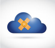 Cloud band aid fix solution concept illustration Royalty Free Stock Images