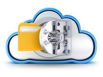 Cloud and bank door Royalty Free Stock Photos