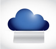 Cloud and banner illustration design. Over a white background Stock Photography