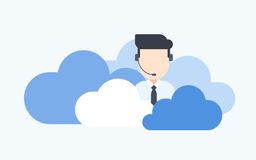 Cloud Based Call Center Royalty Free Stock Images