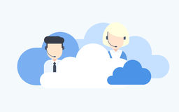 Cloud Based Call Center Stock Image