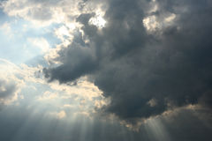 Cloud with beams Royalty Free Stock Image
