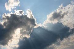 Cloud with beams Royalty Free Stock Images