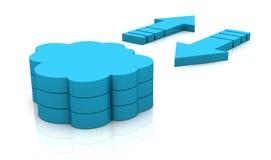 cloud beräkning Vektor Illustrationer