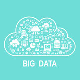 Cloud big data concept. Flat icon, great for your design Stock Image