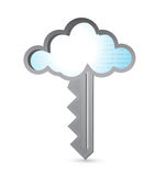 Cloud binary key illustration design Stock Images