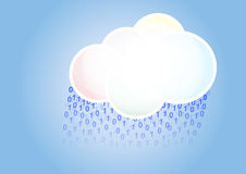 Cloud binary rain Stock Photos