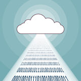 Cloud Binary Streaming Stock Photo