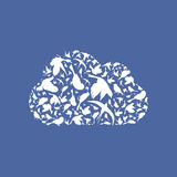 Cloud a bird Royalty Free Stock Image