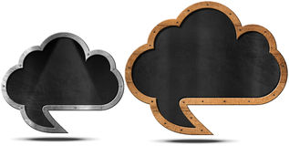 Cloud Blackboard - Speech Bubble Shaped Stock Photos