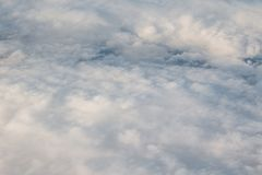 Cloud Blanket. A fluffy blanket of clouds as seen from above Royalty Free Stock Photo