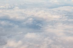 Cloud Blanket. A fluffy blanket of clouds as seen from above Royalty Free Stock Image