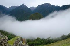Cloud blanketing Machu Picchu, Peru stock image