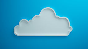 Cloud blue background 3d render Royalty Free Stock Images