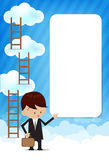Cloud and blue background New 009 Stock Images