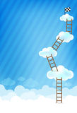 Cloud and blue background New 002 Stock Photos