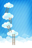 Cloud and blue background New 001 Royalty Free Stock Photography