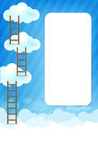 Cloud and blue background New 003 Royalty Free Stock Image